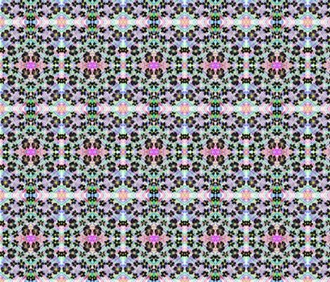 Black Daisies Dancing on the Garden Wall fabric by rhondadesigns on Spoonflower - custom fabric