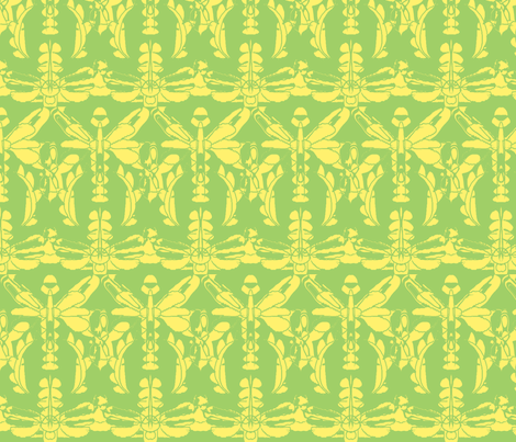 Dream in Dragonfly/yellow fabric by menny on Spoonflower - custom fabric