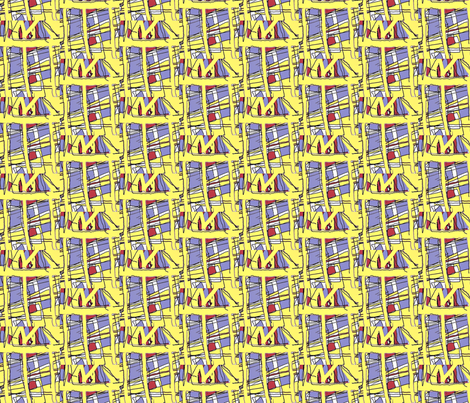 Yellow City fabric by menny on Spoonflower - custom fabric