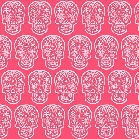 Sugar Skulls - Pink fabric by natalievmason on Spoonflower - custom fabric