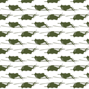 CH53 Helicopters in dark green offset pattern with white background
