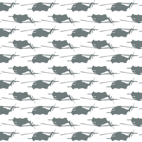 CH53 Helicopters in gray offset pattern with white background