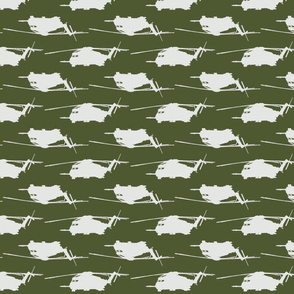 CH53 Helicopters in white offset pattern with dark green background