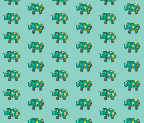 teal elly fabric by dnbmama on Spoonflower - custom fabric