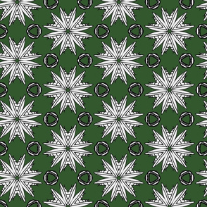 Mantifloral Kaleidoscope On Green