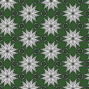 Mantifloral Kaleidoscope On Green