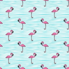 Flamingo on Stripes