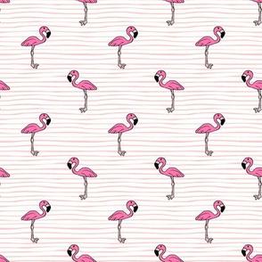 flamingo on stripes // pink