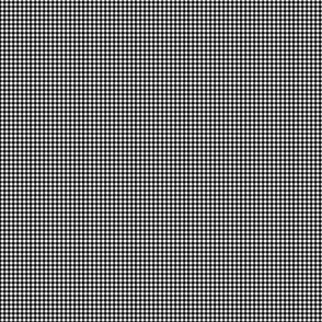 1:6 Gingham 1/4-Inch-Black And White