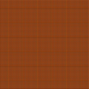 1:6 Gingham 1/4-Inch-Black And Pumpkin Orange
