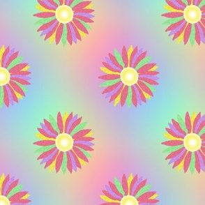 Multi_daisy_yellow_centre Rainbow
