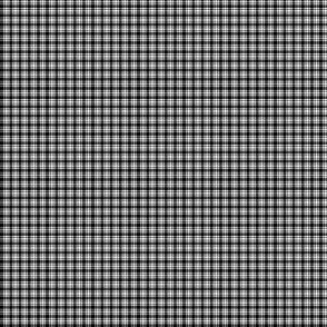 Plaid 6 Black On White 1:6