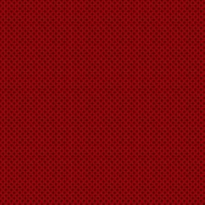 1:6 Polka Dots-Black On Cherry Red