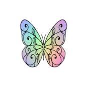 scroll_butterfly_rainbow_wings
