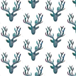 Green Boho Deer Pattern