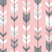 Fletching arrows // Rose Quartz and Grey