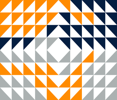Triangle Quilt top // great outdoors fabric by littlearrowdesign on Spoonflower - custom fabric