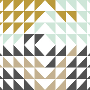 Triangle Quilt Top // Woodland Collection
