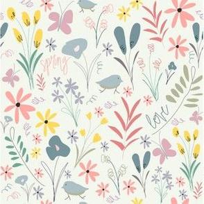 Spring Florals - Mint