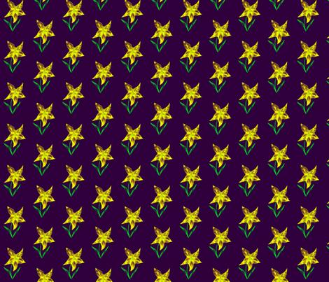 Sunny Starflower fabric by rhondadesigns on Spoonflower - custom fabric