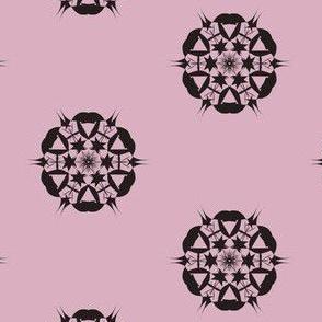 Starburst Dots on Lilac Dusk