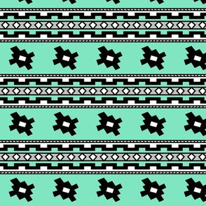 Aztec >> Tribal Mod Geometric Trendy Baby Kids >> Turquoise,Grey, and White