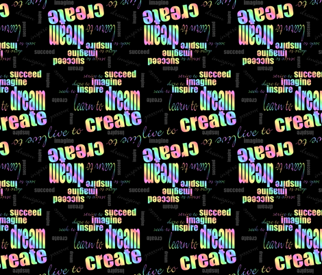 DICIS Phrases (Neon) fabric by esheepdesigns on Spoonflower - custom fabric