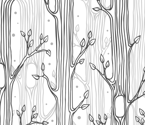 Pattern for coloring, forest background fabric by yulia on Spoonflower - custom fabric