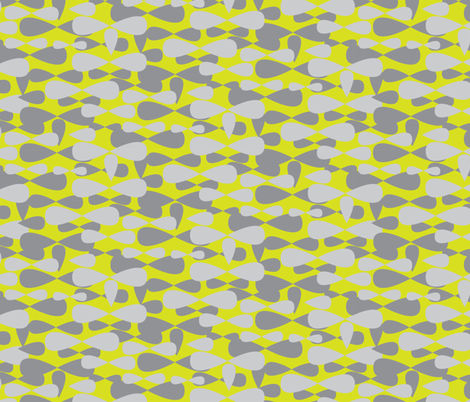 Gray grey Lime yellow apple green Camo || spots dots drops camouflage _Miss Chiff Designs fabric by misschiffdesigns on Spoonflower - custom fabric