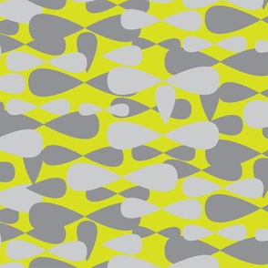 Gray grey Lime yellow apple green Camo || spots dots drops camouflage _Miss Chiff Designs