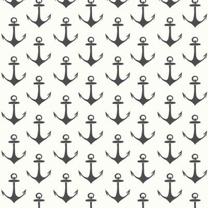 Anchors in charcoal and white