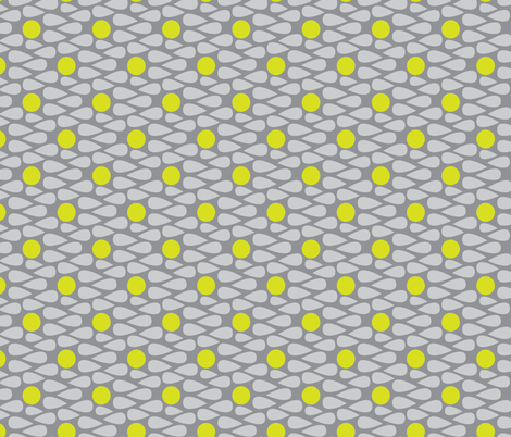 15-01C Scandinavian Abstract || Grey Gray Yellow Green Apple Lime Drops Spots _Miss Chiff Designs fabric by misschiffdesigns on Spoonflower - custom fabric