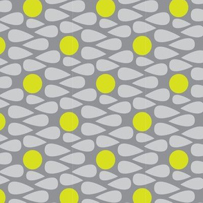 Scandinavian Abstract || Grey Gray Yellow Green Apple Lime Drops Spots _Miss Chiff Designs