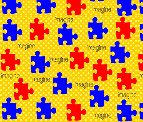 Autism Awareness Puzzle Pieces fabric by hot4tees_bg@yahoo_com on Spoonflower - custom fabric
