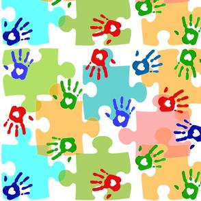 Autism Puzzle PIeces Hands