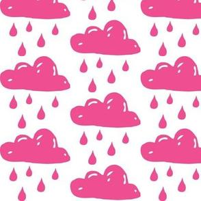pink rain clouds