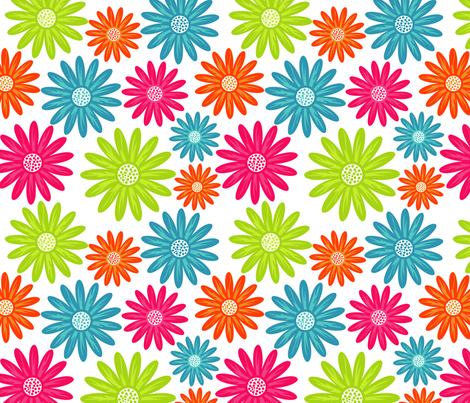 Retro Daisies fabric by puggy_bubbles on Spoonflower - custom fabric