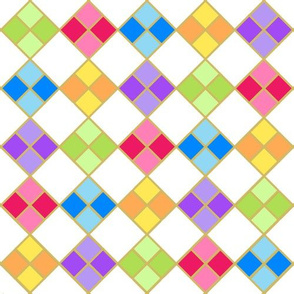 Harlequin Diamonds Rainbow