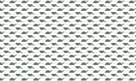 CH53 Helicopters in green offset pattern with white background fabric by thread_sa on Spoonflower - custom fabric