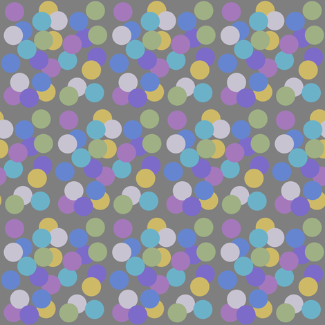 August on the Beach - Disorganised Polka Dots on Grey Background fabric by coloursoffrance on Spoonflower - custom fabric