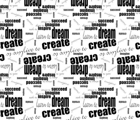 DICIS Phrases (Black & White) fabric by esheepdesigns on Spoonflower - custom fabric