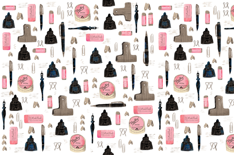 household objects fabric by skbird on Spoonflower - custom fabric