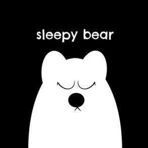 Sleepy Bear Pillow Cover