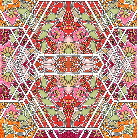 Hot Summer Days fabric by edsel2084 on Spoonflower - custom fabric