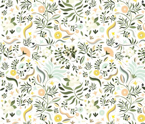 Spring at the Farmhouse fabric by ginamayes on Spoonflower - custom fabric