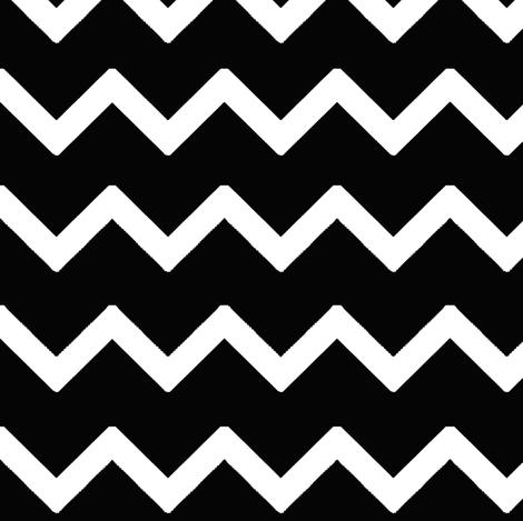 Black Chevron Zigzag  fabric by decamp_studios on Spoonflower - custom fabric