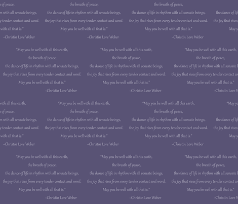 Christin Quote (Purple) fabric by belovedsycamore on Spoonflower - custom fabric