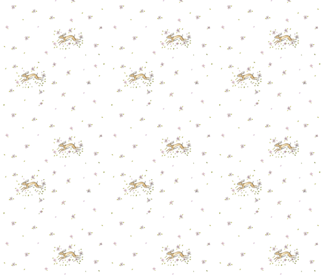 Springtime_hare fabric by jennifer_rizzo on Spoonflower - custom fabric