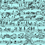 Hand Written Sheet Music // Teal