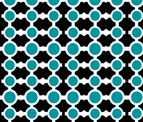 Chain Links Black & Blue fabric by faedesign on Spoonflower - custom fabric